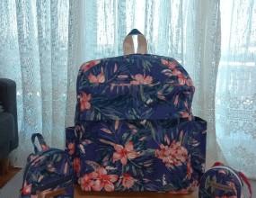 꽃 무늬를 좋아하는 수강생이 2급시헙 작품으로만든 백팩과 다용도 가방!옆에 꼬마 백팩 넘~~~귀엽죠 ㅎㅎ합격 축하합니다!!!